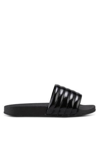 Bata 黑色 漆皮壓紋拖鞋 D9084SH2BDFCD5GS_1