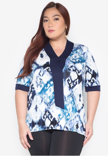 Lulu blue Plus Size Aisa Top LU439AA0IWCBPH_1