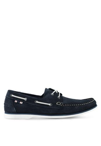 Jack & Jones navy Anchor Suede Mix Boat Shoes 363B9SH87CBAFFGS_1