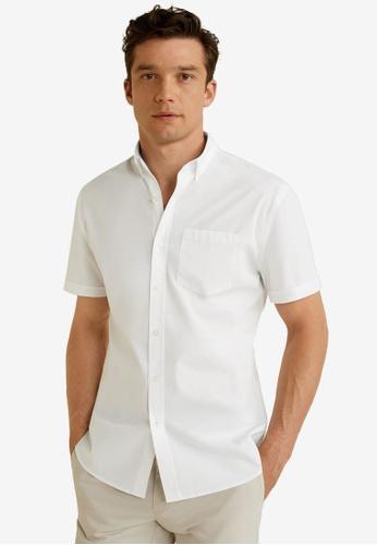 Mango Man 白色 Regular Fit Pocket Cotton Shirt 426A6AA74FCFF4GS_1