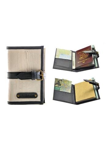 Jacinto and Lirio grey Pacem II Mini Blank Refillable Vegan Leather Journal 15A6DHL66814BFGS_1