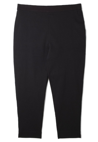 MS. READ 黑色 MS READ Signature Ultra-Stretch Ankle Pants BCFEEAA22F5024GS_1