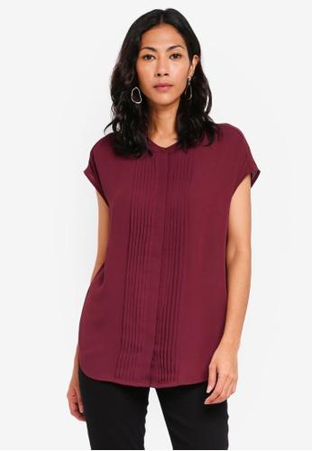 WAREHOUSE purple Pleat Front Sleeveless Shirt 1396DAAD294237GS_1