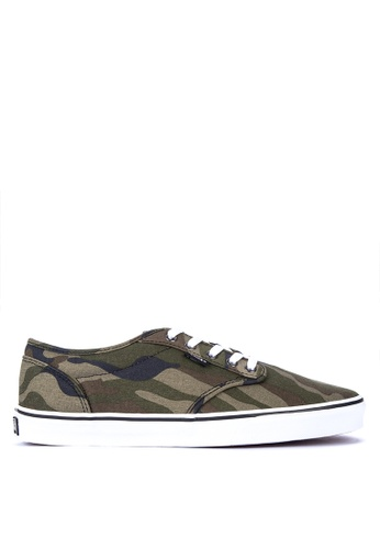 VANS green Camo Atwood Sneakers 4013DSH7F4AD42GS_1