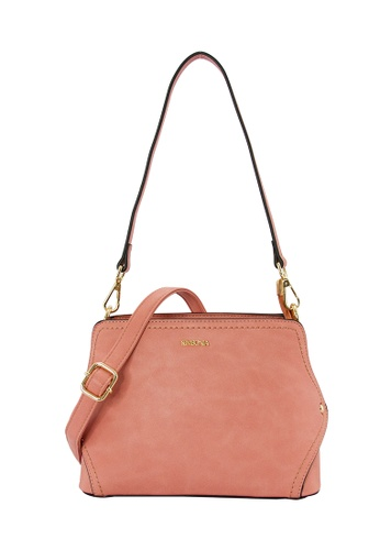 SEMBONIA pink SEMBONIA Synthetic Leather Hobo Bag (Pink) SE598AC0SZ7XMY_1