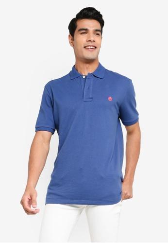 Springfield blue Essential Pique Polo Shirt 1D778AA0644326GS_1