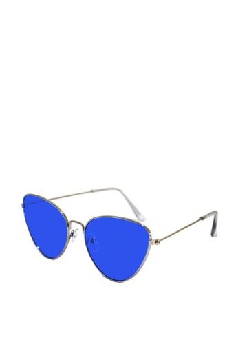 Kallisto blue Chelsea Cateye Sunglasses 90423GLBFF3300GS_1