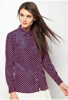 Ladies' Polkadot Button Down Shirt