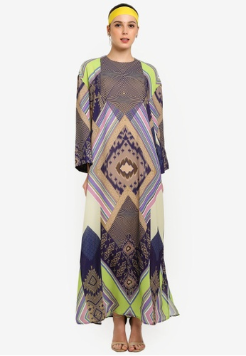 Tom Abang Saufi for ZALORA multi Tapestry Kaftan 64BE3AAE649885GS_1
