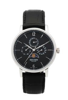 ... Rhythm FI1608L 02 - Jam Tangan Pria - Leather - Black 57e454f9fb