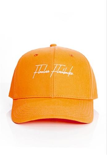 Flawless Flashbacks. 橘色 FF橙色品牌標誌車花中性潮流帽子 21FA6ACFDF3FD0GS_1