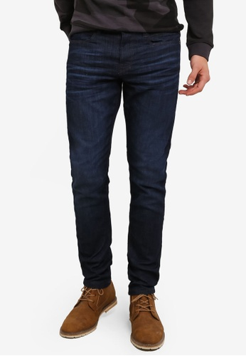 ESPRIT blue Washed Slim Fit Jeans ES374AA0RWHBMY_1