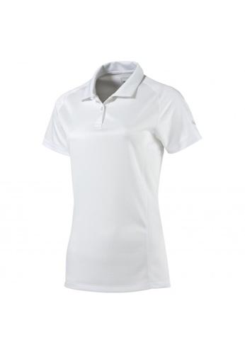 puma white Women's Essential Golf Polo 94402AA6FF43C9GS_1