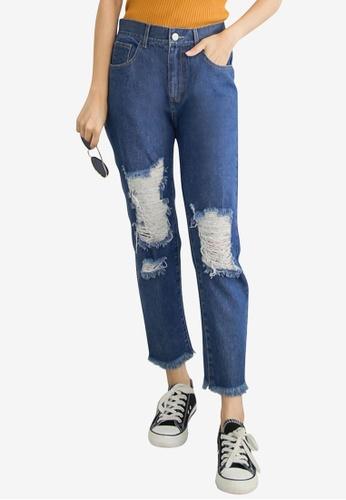 Tokichoi blue Ripped Denim Jeans ADF60AAC39504DGS_1