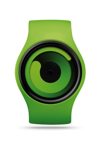 ZIIIRO black and green Gravity One Green Watch B713BACD44D548GS_1