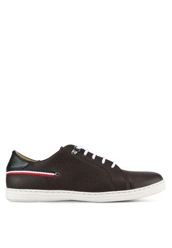 Rocklander brown Textured Sneakers RO978SH0S871MY_1