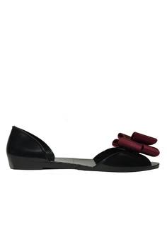 55c733d726fb Lizzy beige Summer Bow Waterproof Flat Sandals LI354SH0FDI9SG 1