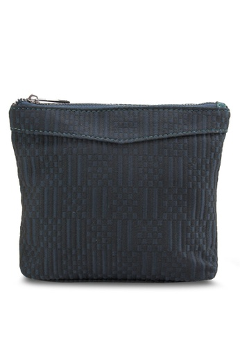 ZALORA blue and navy Woven Pouch AFBDEAC1B0C8EAGS_1
