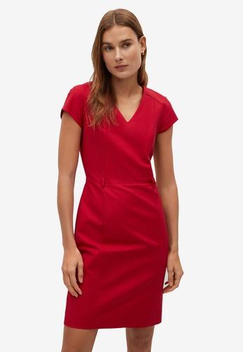 Mango red Tailored Short Dress 6D429AAE5B5572GS_1