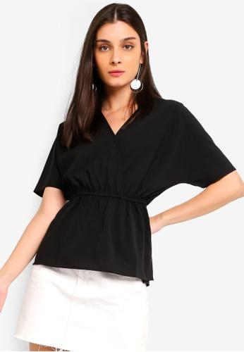 ZALORA 黑色 Kimono Sleeves Top 65DA6AA9D2BCCEGS_1