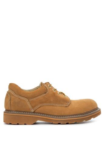 Caterpillar brown Lightning Steel-toe Boots CA367SH51DGUPH_1
