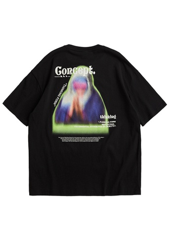 Twenty Eight Shoes Trend Printed Short T-shirt 5177S21 EC986AA817CD40GS_1