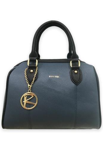 RUCINI blue Rucini Modest Two Toned Duffel Bag Blue 4A053AC52104DEGS_1