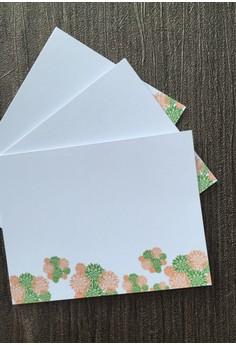 Becky Blossom Notecards- Orange 12pcs/set