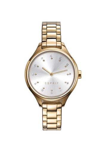 ESPRIT gold Esprit Woman s Watch (ES109412002) - Gold Tone Stainless Steel  Bracelet - Silver 34f5cc5589e