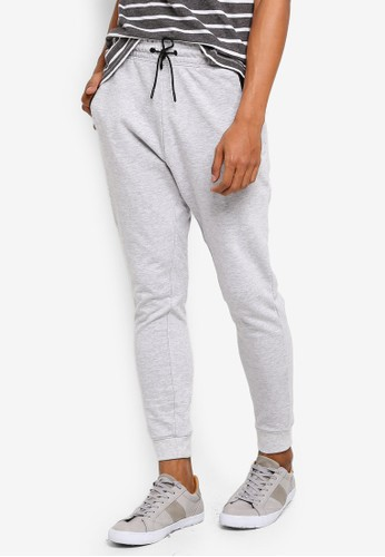 threads by the produce grey Cotton Terry Joggers CED13AA08F7221GS_1