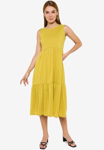 JACQUELINE DE YONG gold Dalila Life Frosty Sleeveless Dress 391A3AAEBFD605GS_1