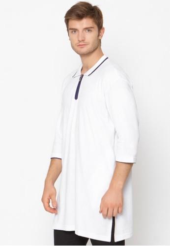 ZAYIDAN white Zaydian Kaos Koko Pria Muslim Zipper - Putih 50E87AA5829179GS_1