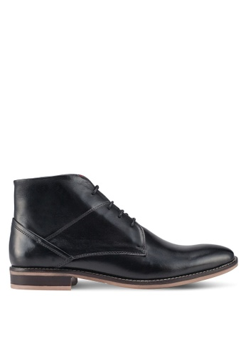 Acuto black Leather Boots 32FCESH4052855GS_1