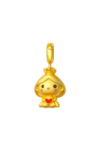 TOMEI red and multi and gold [TOMEI Online Exclusive] Princess Chomel Charm - The Golden Chomel Collection, Yellow Gold 916 with Complimentary Pink Bracelet (TM-YG0658P-EC) (3.26G) C039AACD67421DGS_1
