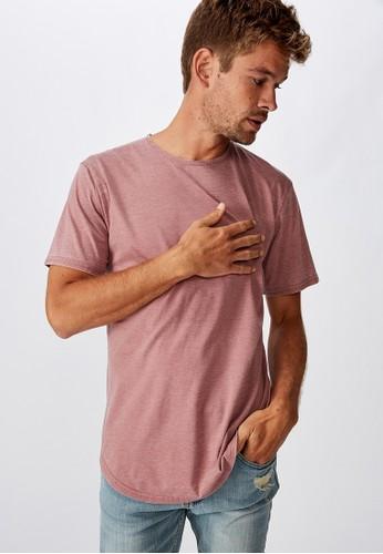 Cotton On pink Longline Curve Hem Burnout 9E9DEAA840E8DEGS_1