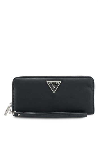Guess black Noelle Sling Large Zip Around Wallet D72A5ACEF4A91BGS_1