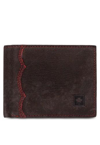 Lumberjacesprit mongkokks 暗紋對折皮夾, 飾品配件, 包