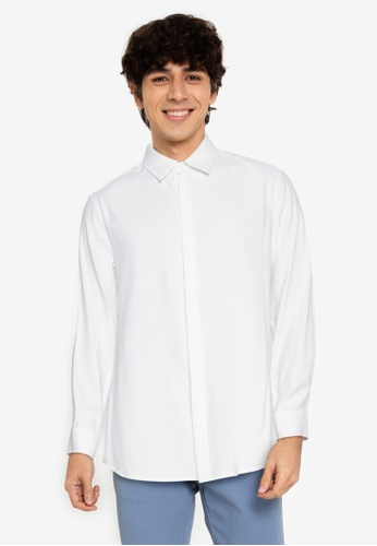ZALORA BASICS white Classic Collar Shirt 56F79AA0D16BB3GS_1