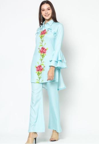 OWLBYND blue Owl By Nora Danish Ashley Pant Suit 7DCE0AA93C5B28GS_1