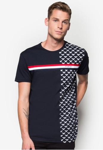 條紋印花圓領T 恤, 服飾, esprit 台北T恤