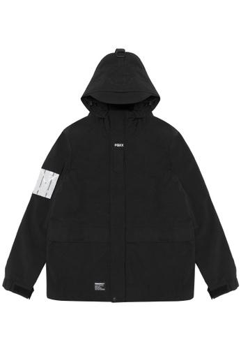 Fingercroxx black Graphic patch utility jacket C38BFAA0DC4CA9GS_1