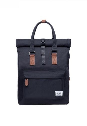 Twenty Eight Shoes black Multi Purpose Leisure Travel Laptop Backpack JW KK-K1047 35F3FAC1636E8FGS_1