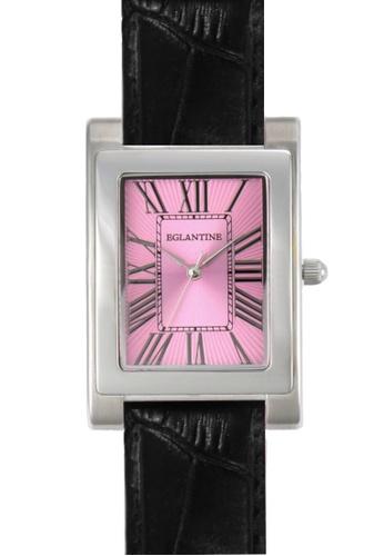 EGLANTINE pink EGLANTINE® Lily Ladies Steel Quartz Watch Pink Dial on Black Leather Strap DABF8AC28D025BGS_1