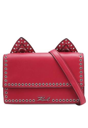 KARL LAGERFELD red k/rocky choupette shoulderbag KA533AC0SDBSMY_1