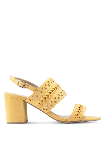 116c40fceae Dorothy Perkins yellow Yellow Shugar Heeled Sandals 57583SH05E15B3GS 1