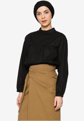 ZALIA BASICS black Back Buttoned Shirt C8E92AAD63A5EEGS_1
