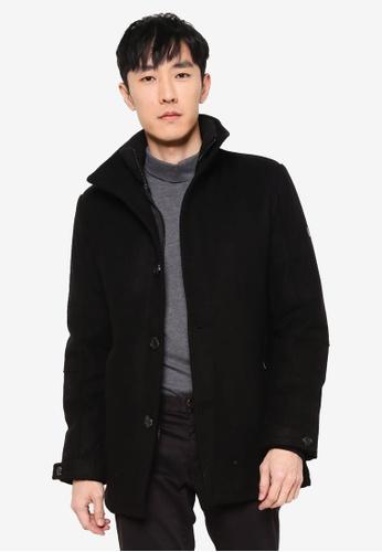 Indicode Jeans black Clark High Collar Coat 37B64AA0F48AE9GS_1