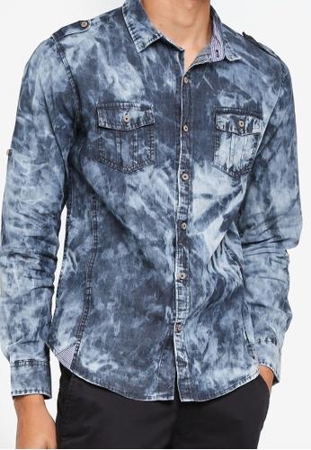 f091f94604 Buy Fidelio Acid Wash Denim Shirt Online on ZALORA Singapore