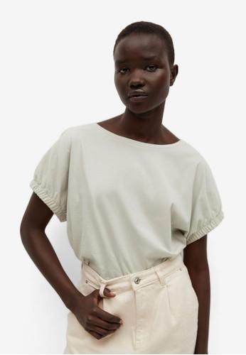 Mango green Oversize Cotton T-Shirt 2EAC6AA8D2A56AGS_1