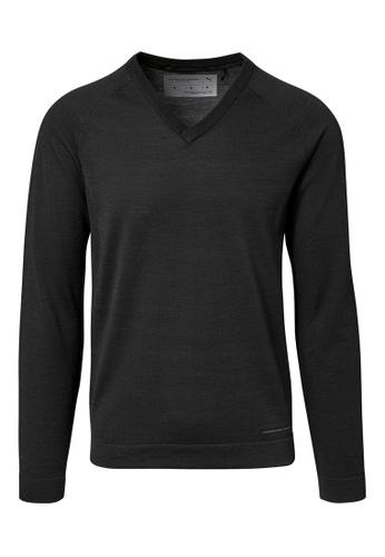 Porsche Design PUMA x Porsche Design Black Men's VNeck Sweater Knit Long Sleeve Top for Men Knitted Casual E2AAEAACCA2F15GS_1